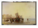A Fishmarket Near Boulogne, C.1824 (Oil on Canvas) Giclee Print by Richard Parkes Bonington