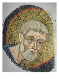 St. John the Baptist: Fragment of a Mosaic from the Basilica Ursiana, Former Cathedral of Ravenna Giclee Print by  Italian