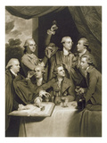 The Dilettanti Society, Engraved by William Say, 1812 (Mezzotint on Paper) Reproduction procédé giclée par Sir Joshua Reynolds
