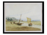 Near Honfleur, C.1822 (W/C over Graphite on Paper) Giclee Print by Richard Parkes Bonington