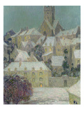 Winter Evening, View of a Town Premium Giclee Print by Henri Eugene Augustin Le Sidaner