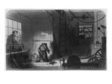 Visitors at the Works, Illustration from 'Little Dorrit' by Charles Dickens, 1857 (Engraving) Giclee Print by Hablot Knight Browne