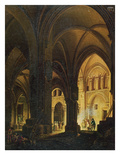 Interior of the Eglise Des Saints-Innocents, Paris, after 1789 Giclee Print by Pierre Antoine Demachy