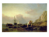 Shrimping (Oil on Canvas) 88;This Painting Has an Indecipherable Date; Giclee Print by Clarkson R.A. Stanfield