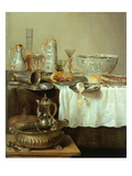 Breakfast Still Life, 1638 (Oil on Canvas) Giclee Print by Willem Claesz. Heda