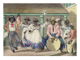 French Set-Girls, Plate 7 from 'sketches of Character...', 1838 (Colour Litho) Giclee Print by Isaac Mendes Belisario