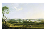 Lough Erne from Knock Ninney, with Bellisle in the Distance, County Fermanagh, Ireland, 1771 Premium Giclee Print by Thomas Roberts