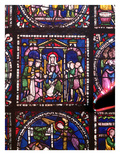 Nativity with Magi and Shepherds (Stained Glass) Giclee Print by  English