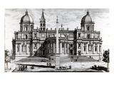 Basilica of Santa Maria Maggiore, 1702 (Engraving) Giclee Print by Alessandro Specchi