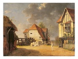 A Scene from 'The Maid of the Mill', 1765 (Oil on Canvas) Giclee Print by John Inigo Richards