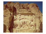 Relief Depicting the Investiture of King Ardashir I (C.210-241) Giclee Print