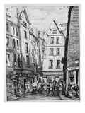 The Rue Pirouette, 1860 (B/W Photo) Giclee Print by Charles Meryon