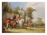 Bachelor&#39;s Hall, the Meet, 1835 (Oil on Canvas) Giclee Print by Francis Calcraft Turner