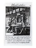 The Copper-Plate Engraver, from 'Iets Voor Allen' a Book of Trades by Abraham Van St. Clara, 1736 Giclee Print by Caspar Luyken