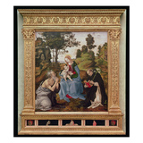 Virgin and Child with St. Jerome and St. Dominic (Oil and Tempera on Panel) Giclee Print by Filippino Lippi