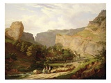 A View of Cheddar Gorge Giclee Print by George Vincent