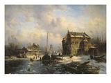 Winter Scene, 1851 Giclee Print by Charles-Henri-Joseph Leickert