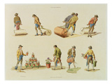 Gardeners, Vol.2, Plate 97, from 'Microcosm', Printed by J. Hill, 1808 (Hand Coloured Aquatint) Giclee Print by William Henry Pyne