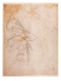 Study of Drapery (Black Chalk on Paper) C.1516 (Verso) (For Recto See 191775) Giclee Print by Michelangelo Buonarroti