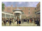 Epsom Races: Settling Day at Tattersall's Giclee Print by James Pollard