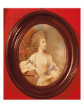 Portrait of Sarah Siddons (1755-1831) 1783 (Watercolour on Ivory) Giclee Print by Richard Crosse