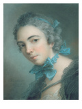 Young Girl, 1744 (Pastel on Paper) Giclee Print by Jean-Marc Nattier