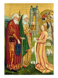 The Annunciation to Joachim and Anne, from the Dome Altar, 1499 (Tempera on Panel) Giclee Print by Absolon Stumme