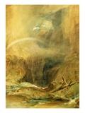 Devil's Bridge, St. Gotthard's Pass, C.1804 (W/C and White Wax Crayon on Wove Paper) Premium Giclee Print by J. M. W. Turner