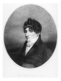 John Braham, Engraved by Anthony Cardon, 1806 (Engraving) Giclee Print by John George Wood