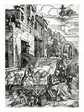 The Rest on the Flight into Egypt, from the 'Life of the Virgin' Series, 1511 (Woodcut) Giclee Print by Albrecht Dürer