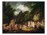 The Mermaids' Haunt, 1804 (Oil on Panel) Giclee Print by Julius Caesar Ibbetson
