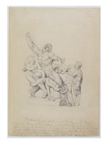 Copy of the Laocoon, for Rees's Cyclopedia, 1815 (Graphite on Laid Paper) Premium Giclee Print by William Blake