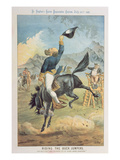 Riding the Buck Jumpers, Lord Salisbury on the Black Horse, Gladstone Giclee Print by Tom Merry