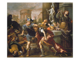 The Burning of Troy (Oil on Canvas) Giclee Print by Alessandro Tiarini