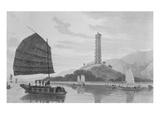 Whampoa Pagoda, 1810 (Engraving) Giclee Print by Thomas Daniell