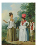 West Indian Women of Colour, with a Child and Black Servant, c.1780 Giclee Print by Agostino Brunias