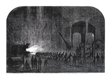 Process of Rolling Armour-Plates for Her Majesty's Ships at the Alas Steelworks, Sheffield Giclee Print by Mason Jackson