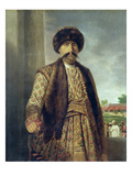 Shuja-Ud-Dawlah (1754-75), Nawab of Oudh, 1772 (Oil on Canvas) Giclee Print by Tilly Kettle