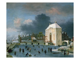 Town Gate at Leiden Giclee Print by Anthonie Beerstraten