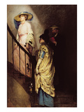 The Meeting on the Stairs Giclee Print by Rupert Charles Wolston Bunny