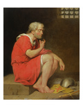 Robert (C.1054-1134) Duke of Normandy in Prison, 1779 (Oil on Copper) Giclee Print by John Downman