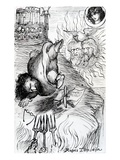 Rupes Topseia, 1874 (Pen and Ink on Paper) Giclee Print by Dante Gabriel Rossetti