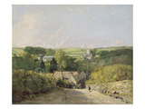 A View of Osmington Village with the Church and Vicarage, 1816 Giclee Print by John Constable