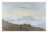 Mountainous Landscape with Clouds, C.1803 (W/C over Graphite on Wove Paper) Giclee Print by Joshua Cristall
