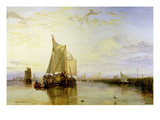 Dort or Dordrecht: the Dort Packet-Boat from Rotterdam Becalmed, 1817-18 Premium Giclee Print by J. M. W. Turner