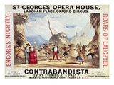 09:Poster Advertising St.George's Opera House Giclee Print by  English