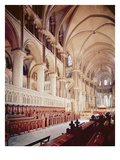 View of the Choir, Built 1098-1130 (Photo) Premium Giclee Print by  English