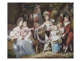 Mrs Justinian Casamajor and Eight of Her Children, 1779 Giclee Print by Daniel Gardner