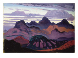 Deep Twilight, Pyrenees, C.1912-13 (Oil on Panel) Giclee Print by James Dickson Innes