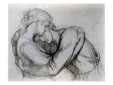 Study for 'The Blessed Damozel', C.1876 (Graphite on Paper) Giclee Print by Dante Charles Gabriel Rossetti
